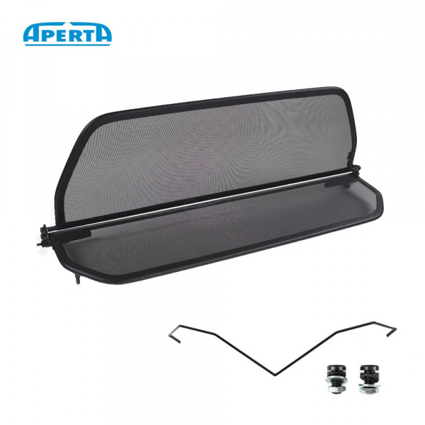 Fiat 124 Spider Wind Deflector Double Frame - Black 1966-1985