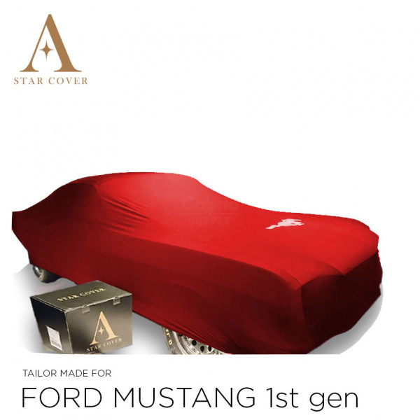 Ford Mustang I 1964-1967 Indoor Cover - Red with Pony emblem