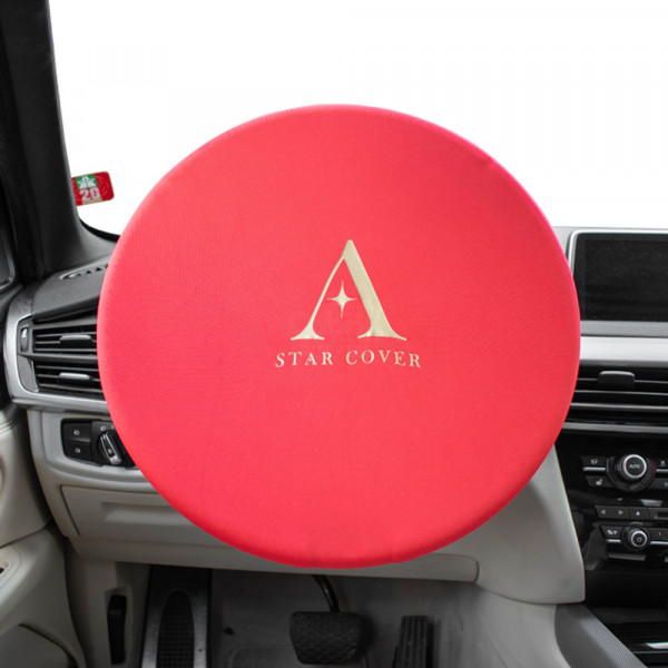 Steering Wheel Stretch Cover - Red