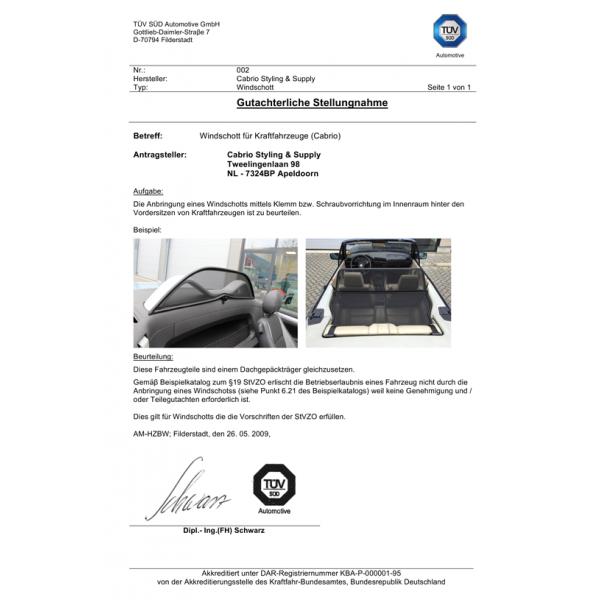 Manual Ford Ka wind deflector (black)