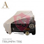 Triumph TR4 TR6 Indoor Car Cover - White
