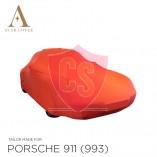 Porsche 911 993 1993-1998 Indoor Cover  - Red