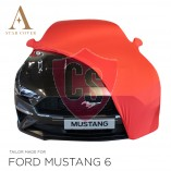 Ford Mustang 6 Cabrio Indoor Cover - Mirror Pockets - Red