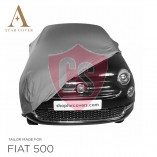 Fiat 500 500C - Indoor Car Cover - Silvergrey