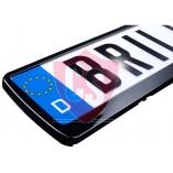 2 x License plate holder in gloss black