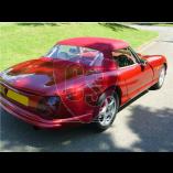 TVR S1, S2, S3 cabriolet hood -  PVC rear window 1986-1993