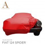 Fiat 124 Spider 1966-1985 - Indoor Car Cover - Red