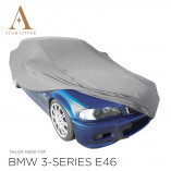 BMW 3 Series Convertible E46 Indoor Car Cover - Tailored - Silvergrey