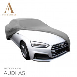 Audi A5 Convertible Indoor Car Cover - Tailored - Silvergrey