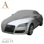Audi TT 8J Roadster Indoor Cover - Mirror Pockets - Silvergrey
