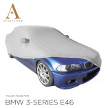 BMW 3 Series Convertible E46 Indoor Car Cover - Mirror Pockets - Silvergrey
