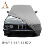 BMW 3 Series Convertible E30 Indoor Car Cover - Mirror Pockets - Silvergrey