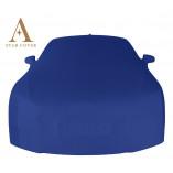 Ford Mustang 6 Cabrio Indoor Cover - Mirror Pockets - Blue