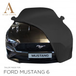 Ford Mustang 6 Cabrio Indoor Cover - Mirror Pockets - Black