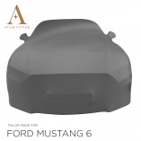 Ford Mustang 6 Cabrio Indoor Cover - Mirror Pockets - Grey