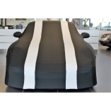 Porsche 911R 991 Car Cover - Tailored - Mirror Pockets - Zwart Zilver