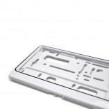 License plate holder trend-white (1 piece)