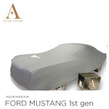 Ford Mustang I 1964-1967 Indoor Cover - Silvergrey with Pony emblem
