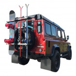 Spare Tire Ski & Snowboard Rack Off-Road Vehicles 4x4 | FABBRI GRINGO SKI & BOARD