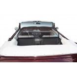 Ford Mustang 1 Serie 1,2,3 Aluminium Wind Deflector - Black 1964-1970