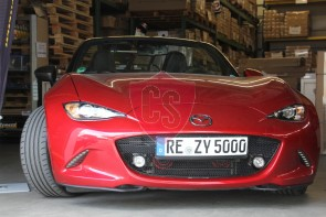 Front grill Mazda MX-5 ND/RF - Mesh narrow - Matt black with LED fog lights