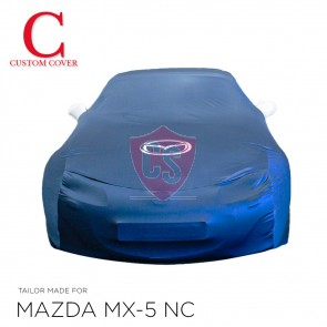 Mazda MX-5 NC Indoor Cover  with mirror pockets in silvergrey