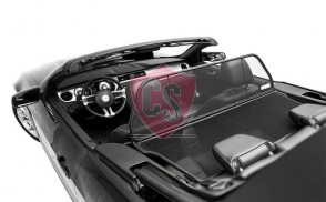 Ford Mustang 5 Aluminium Wind Deflector - Black 2005-2014