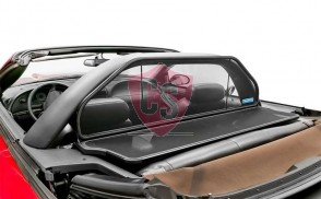 Ford Mustang 4 SN-95 With Anti Rollbar Aluminium Wind Deflector - Black 1994-2004