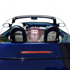 Alfa Romeo Spider 916 anit roll bars + wind deflector 1995-2005 - BLACK EDITION
