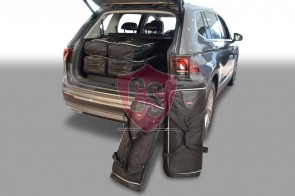 Volkswagen Tiguan II Allspace 2017-present (7 seater with 3rd row of seats folded down) Car-Bags travel bags